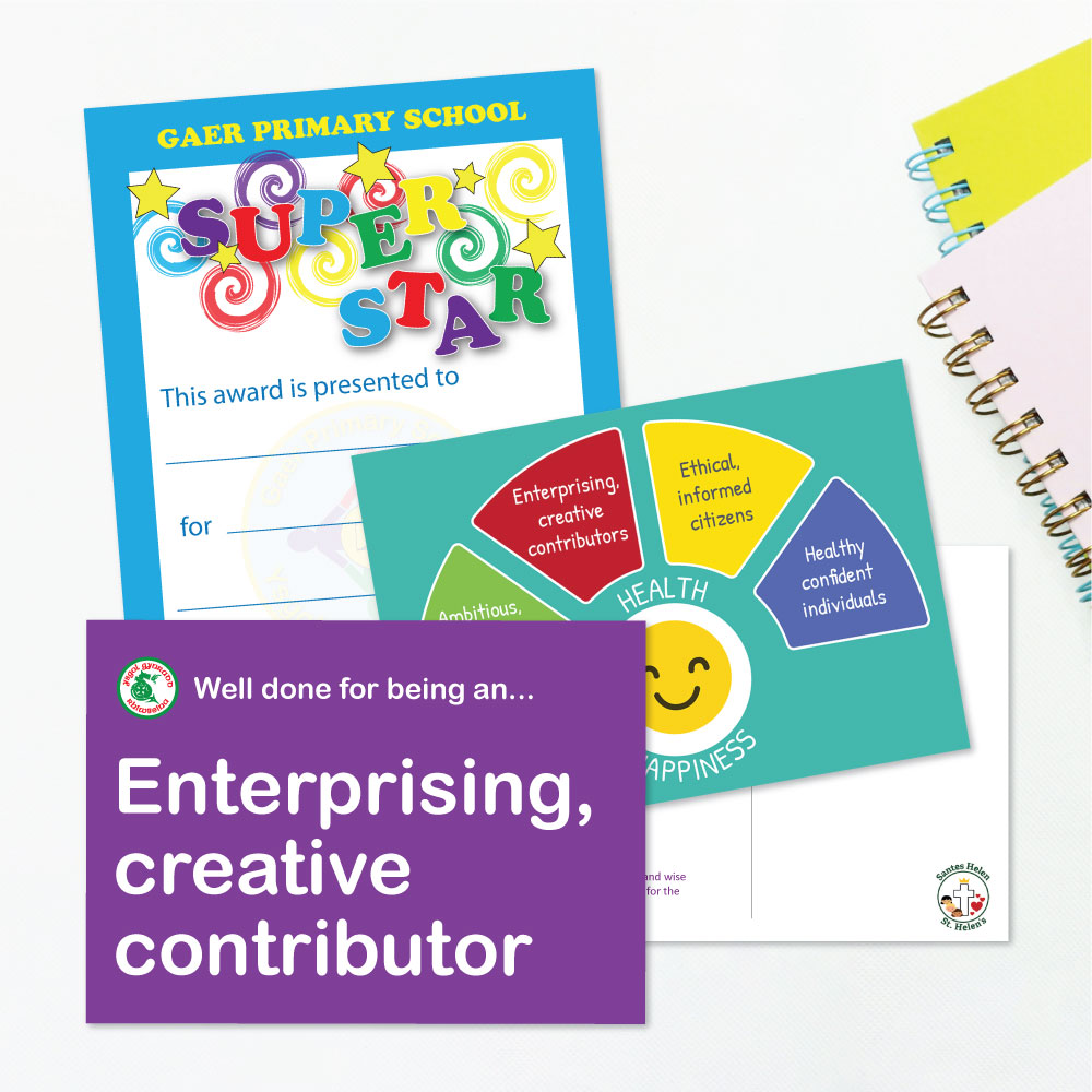 School Praise Cards - Curriculum for Wales