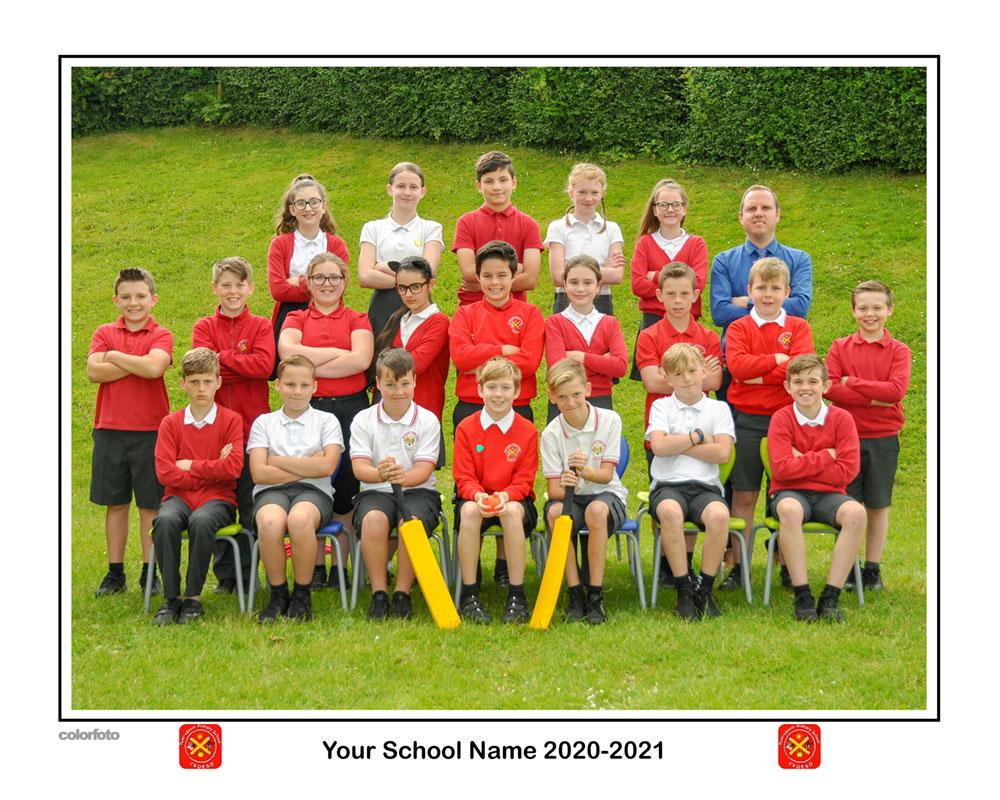 Traditional Sports Team School Photo