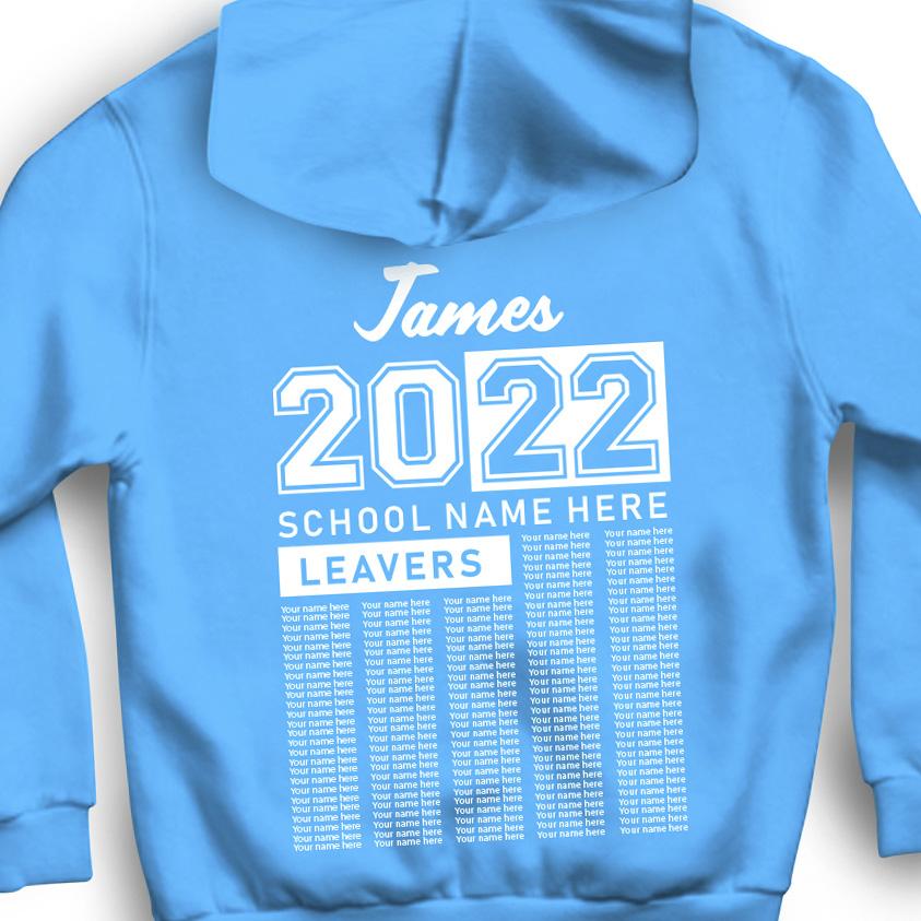 Personalized leavers hoodie